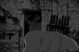 reindeer scene