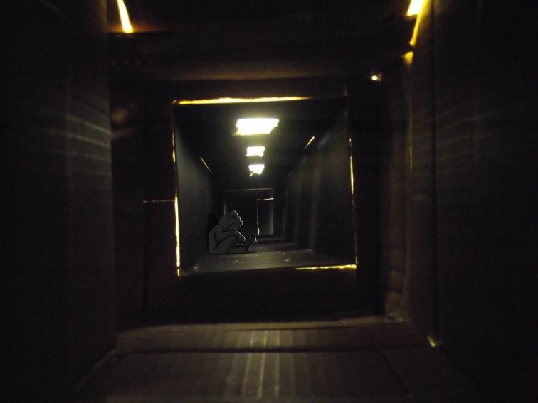 sat down hallway